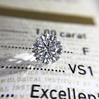 Round Brilliant Cut Moissanites Loose Stone Diamond Ring