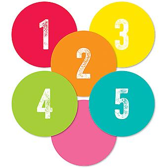 Woodland Whimsy Student Numbers Mini Cut-Outs, 35 Pieces