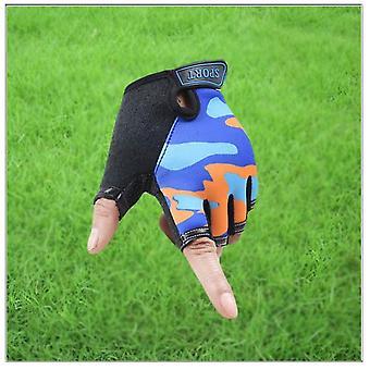 Fingerless Kids Gloves, Non-slip, Ultrathin, Half Finger Breathable