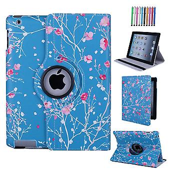 Culiker - exclusive design case for ipad 2/ipad 3/ipad 4, 360 rotating colorful design pu leather sm