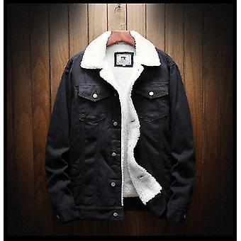 Férfi téli farmer kabátok, felsőruházat meleg farmer kabátok
