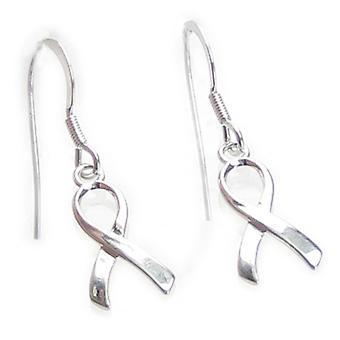 Bevidsthed Ribbon Sterling Sølv Hook Øreringe 0,925 X 1 Par