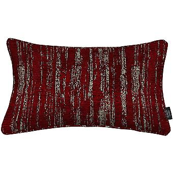 Textured chenille wine red pillow