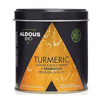 Turmeric - Ginger and Black Pepper + Probiotics 250 capsules of 760mg