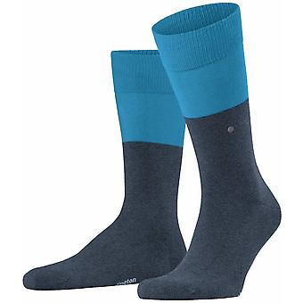 Burlington Chester Socks - Black/Grey
