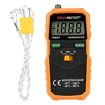 Handheld battery operated k type backlight with thermocouple industrial thermometer liquid measuring lcd digital display