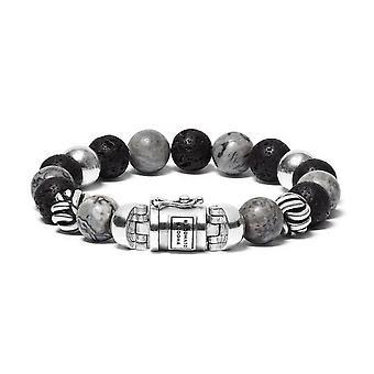 Buddha To Buddha 188MG G Spirit Bead Mix Grey Picasso Jasper Bracelet