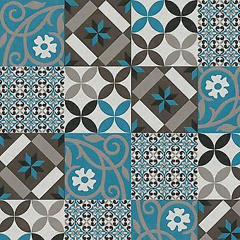 ASC Mosaic Tile Blue Wallpaper