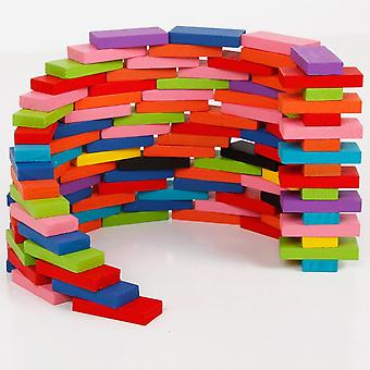 Colorful Domino Game Building Blocks Baby Color/ Shape Learning Educational