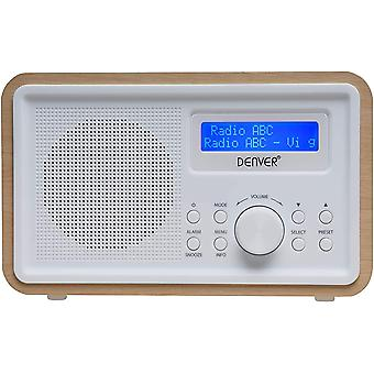 DZK DAB-35 Portable DAB Digital Radio with DAB+ Radio, FM Radio, Digital Alarm Clock and LCD