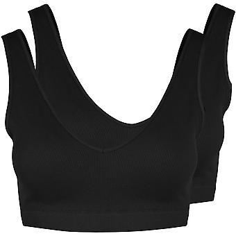 Pieces Womens Symmi Bra 2 Pack Non Wired Top Lingerie Underwear