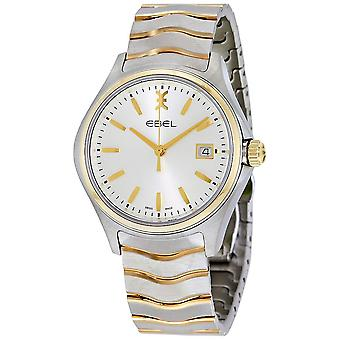 Ebel Wave Silver Dial Two-tone Stainless Steel Men's Watch 1216202