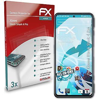 atFoliX 3x Suojakalvo yhteensopiva Xiaomi Black Shark 4 Pro Screen Protector selkeä &joustava