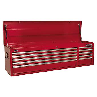 Sealey Ap6610 Topchest 10 lade met kogellager lopers Heavy-Duty - rood