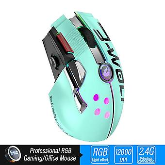 Wireless Gaming Mouse Professional Mice(green)