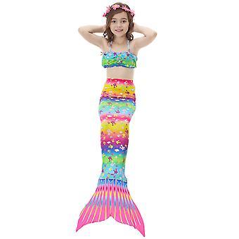 Swimsuit mermaid swimwear children's mermaid tail costume cos gift can hold flippers
