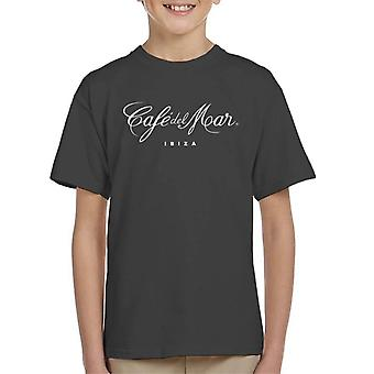 Cafe del Mar Classic White Logo Kid's T-Shirt