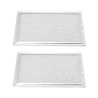 2 Pcs Microwave 5304464105 Mesh Grease Filter Accessory 13x19.5x0.3cm