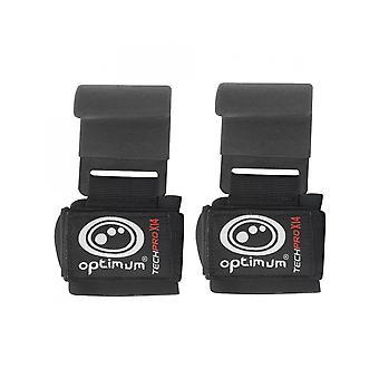 Optimum Sport Techpro X14 Chin Up Hooks Weightlifter 50mm Neoprene Wrist Support