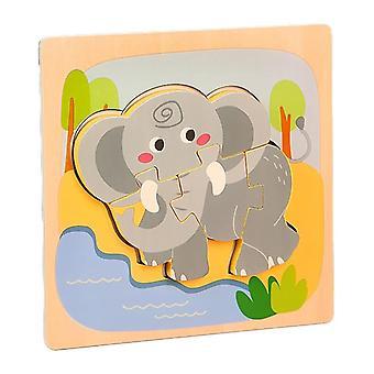 3D quebra-cabeças brinquedos crianças educação intelectual quebra-cabeça elefante pt105