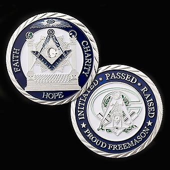 Faith hope charity making good men better masonic silver coin