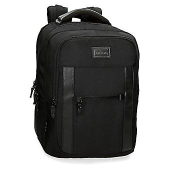 Pepe Jeans Allblack Backpack Casual 44 centimeters 20.46 Black (Negro)