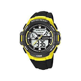 Calypso kellot analoginen-digitaalinen katsella kvartsi mies muovihihna K5770/1