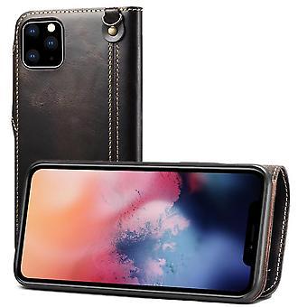 Slot per carte cassa portafoglio in vera pelle per iphone6/6s nero on1253