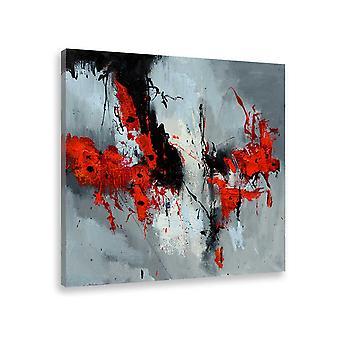 Abstraktes Bild moderne Mohnblume