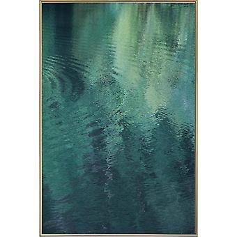 JUNIQE Print - Skov i søen - Oceaner, Have og Søer Plakat i Grøn & Turkis