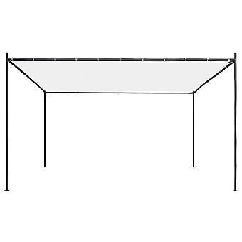 vidaXL Gartenpavillon mit Flachdach 4x4x2,4 m Weiß 180 g/m²