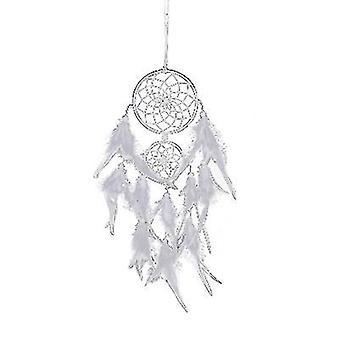 Med lys hvit etterfølgerne til den indiske drømmen catcher ornamenter, vindklokker, bursdag gaver hjem dekorasjon az19236