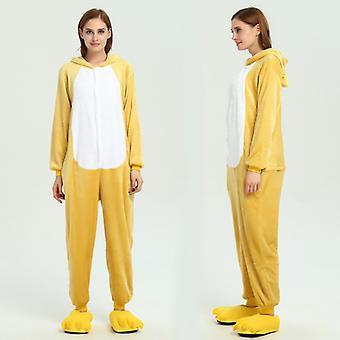 Regenboghorn Yellow Bear Costume Pajama Onesie Kigurumi Jumpsuit Animal Hoodie