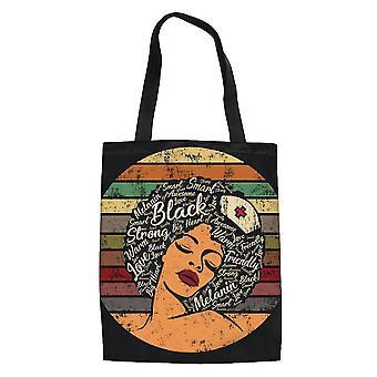 Uusi Afrikkalainen tyttö Naisten kangas ruokakauppa Tote käsilaukku Kannettava ostoskassi ES9215