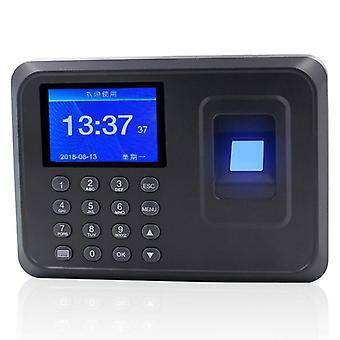 Biometrinen sormenjälkiajan läsnäolokellon tallennin