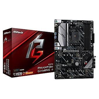 ASRock X570 ファントムゲーム 4 AMD ソケット AM4 ATX HDMI/ディスプレイポート デュアル M.2 USB 3.2 マザーボード