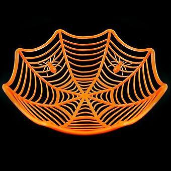 1 Pcs Halloween Fruit Bowl Spider Web Candy Basket