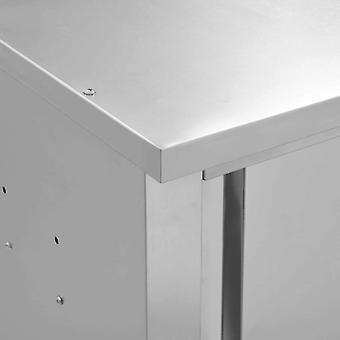 vidaXL Seinän ripustuskaappi liukuovilla 90×40×50 cm ruostumatonta terästä