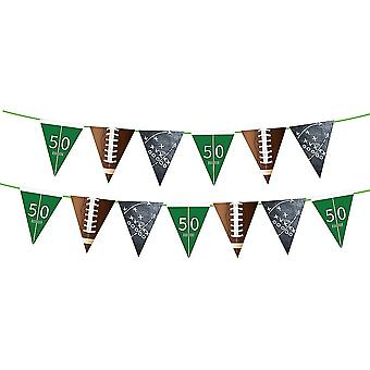1pc American Football Theme Pennant Dekoracyjne Banner Piłka nożna Bunting Flaga Creative Sports Garland Birthday Party Supplies Favors (trójkąt)