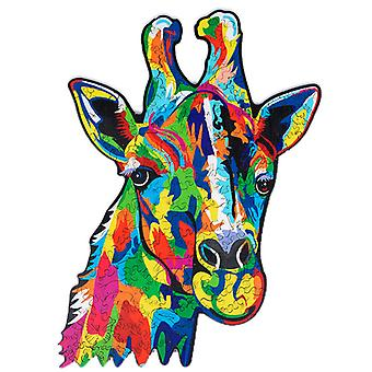 Children's Puzzles Animal Shapes Wood 3d Jigsaw Puzzle Deer-shaped Children Puzzles Gifts