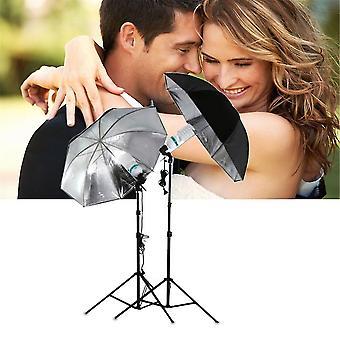 83cm Studio Flash Light Szemcsés Fekete Ezüst Esernyő Fényvisszaverő