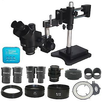 3.5X-180X Kaksinkertainen Puomi Simul Focal Kolmikulmainen StereoMikroskoopilla 38MP HDMI Digitaalinen USB Microscopio Camera Phone PCB Korjaustyökalut