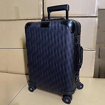 سبينر الألومنيوم السفر حقيبة، الفاخرة العلامة التجارية عربة القضية