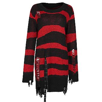 Punk Rave Pugsley Knit Sweater Black-Red