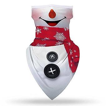 (#1) Kerstmis Santa Sneeuwman Balaclava Nek Bandana Tube Sjaal Gezichtsmasker Cover