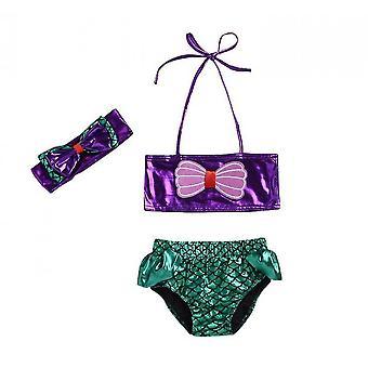Girls Swimsuit Bathing Suit Bikini Swimwear(100cm)