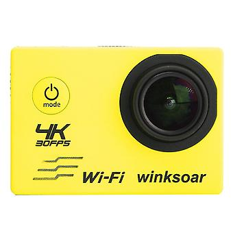 SJ8000 Waterproof 2.0 Inch LCD 4K HD WiFi Sports DV Action Camera with Remote Control YELLOW