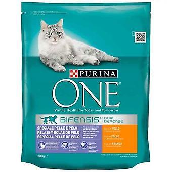 Cat Food Purina Coat & Hairball One (800 g)