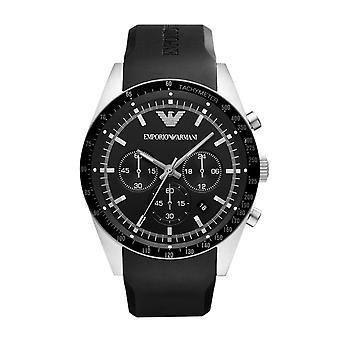 Emporio Armani AR5985 Black Rubber Strap Black Dial Sportivo Chronograph Watch