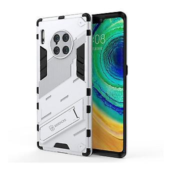 BIBERCAS Xiaomi Mi 11 Case with Kickstand - Shockproof Armor Case Cover TPU White
